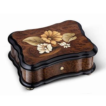リュージュ 1曲36弁 バボナのこぶ材、花模様の象嵌 AXA.36.2488.001 #rge007917