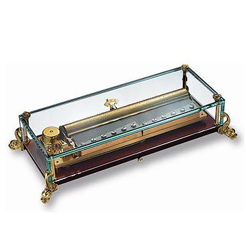 リュージュ 3曲144弁オルゴールガラスボックス、ドルフィン型の脚部 AXA.14.5980.DEL #rge007932