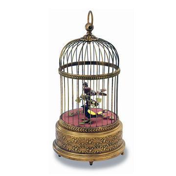 リュージュ シンギングバードアンティーク調ケージに2羽の小鳥 AXO.90.7005.0A2 #007936 #rge007936