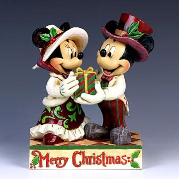 ENESCO エネスコ クリスマスミッキー&ミニー(プレゼント)#4041807 #ens009043