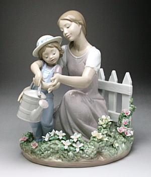 素晴らしい リヤドロ(Lladro リアドロ 陶器人形 #ldr-8028 置物) リアドロ 母と子 ママのお手伝い 母と子 #ldr-8028, ウッディライフ:35833775 --- kventurepartners.sakura.ne.jp
