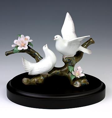 リヤドロ(Lladro リアドロ 陶器人形 置物) 動物 桜の唄(台座付)#ldr-8422