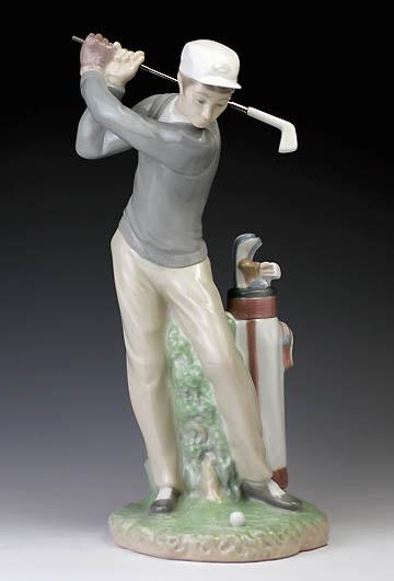リヤドロ(Lladro リアドロ 陶器人形 置物) スポーツ ナイスショット#ldr-4824
