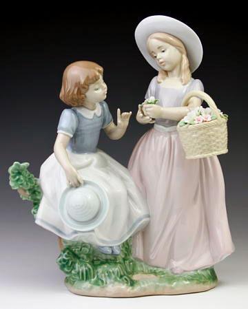 激安な リヤドロ(Lladro 置物) リヤドロ(Lladro リアドロ 陶器人形 置物) 花と少女 花と少女 仲良しの二人#ldr-6949, ラケットプロショップ SUNFAST:e131d4f9 --- ww.evirs.sk