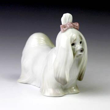 リヤドロ(Lladro リアドロ 陶器人形 置物) 動物 マルチーズ#ldr-8368