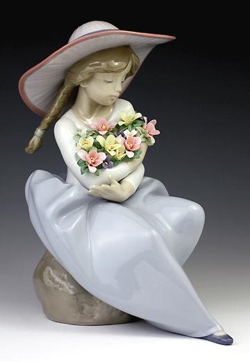 【爆売り!】 リヤドロ(Lladro リアドロ 花と少女 置物) 陶器人形 陶器人形 置物) 花と少女 花の香りに包まれて#ldr-5862, 大進塗料店:00198d8e --- hortafacil.dominiotemporario.com