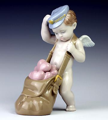 リヤドロ(Lladro リアドロ 陶器人形 置物) 天使 ハートがいっぱい#ldr-6830