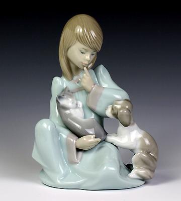 リヤドロ(Lladro リアドロ 陶器人形 置物) 少女 起こしちゃダメよ #ldr-5640