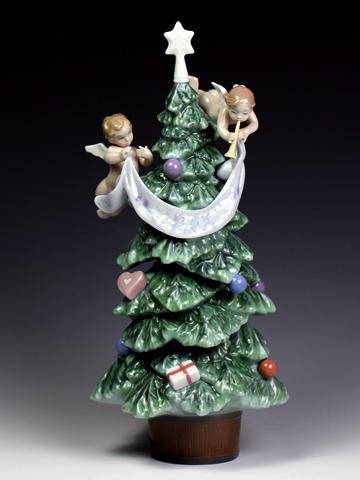リヤドロ(Lladro リアドロ 陶器人形 置物) クリスマス 天使からのプレゼント#ldr-8403