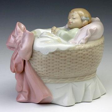 【祝開店!大放出セール開催中】 リヤドロ(Lladro リアドロ リアドロ 置物) 陶器人形 置物) 赤ちゃん 赤ちゃん スィートベイビー(女の子)#ldr-6977, アジアンインテリア ループ:45ab56c0 --- canoncity.azurewebsites.net