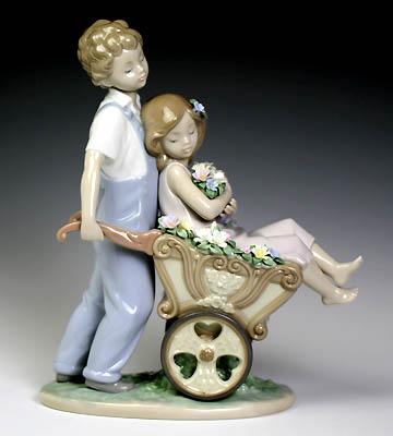 リヤドロ(Lladro リアドロ 陶器人形 置物) ラブストーリー 君が好き!#ldr-6850