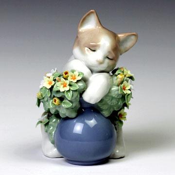 リヤドロ(Lladro リアドロ 陶器人形 置物) 動物 お昼寝の場所#ldr-6567