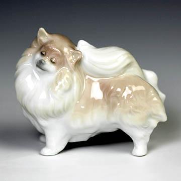リヤドロ(Lladro リアドロ 陶器人形 置物) 動物 ポメラニアン#ldr-8338