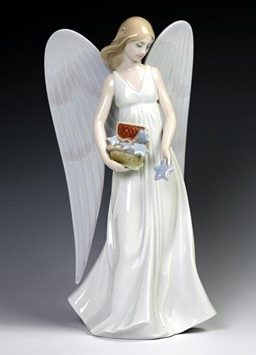 リヤドロ(Lladro リアドロ 陶器人形 置物) 天使 星を散りばめて(ツリートップ) #ldr-8534