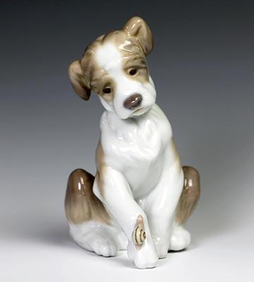 リヤドロ(Lladro リアドロ 陶器人形 置物) 動物 犬(ニューフレンド)#ldr-6211