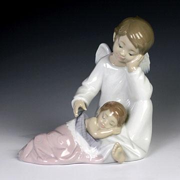 リヤドロ(Lladro リアドロ 陶器人形 置物) 天使 守ってあげるよ(女の子) #ldr-8549