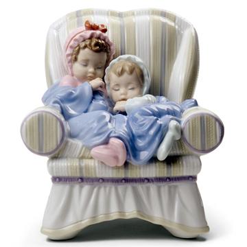 リヤドロ(Lladro リアドロ 陶器人形 置物) 赤ちゃん ゆめでも一緒 #ldr-8717