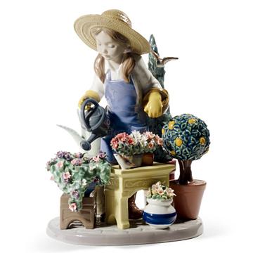 リヤドロ Lladro リアドロ 陶器人形 置物 花と少女 小さな植木屋さん ldr-8663 修理保証 楽天年間ランキング受賞 忘年会