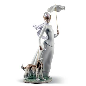 リヤドロ(Lladro リアドロ 陶器人形 置物) 婦人 ショールの貴婦人#ldr-8679
