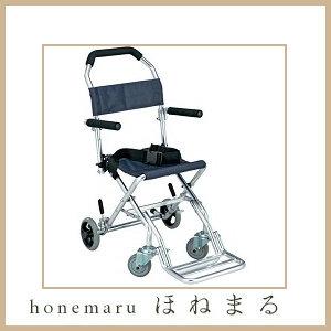 (島製作所) 携帯用アルミ介助車 AK-1 ブルー (ノーパンク 介助用車イス 簡易車椅子 軽量) 【安心のメーカー直送】