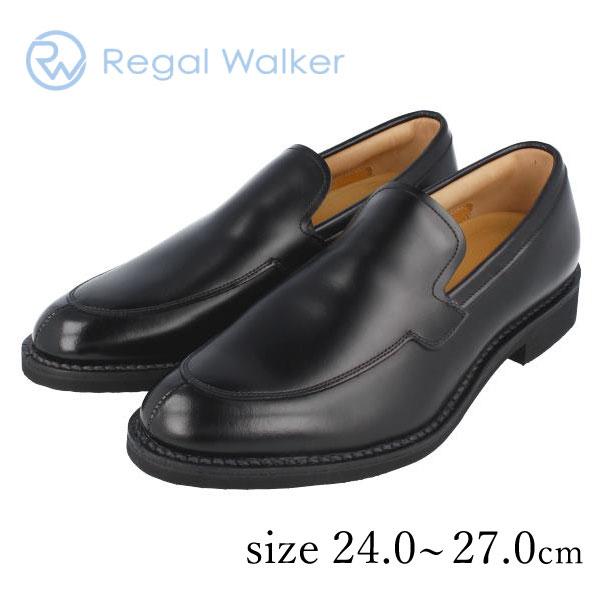 ★REGALWALKER リーガルウォーカー 307W BE スリッポンシューズ ブラック ステッチダウン式 3E 送料無料 通勤 成人式 メンズ リーガルアウトレット