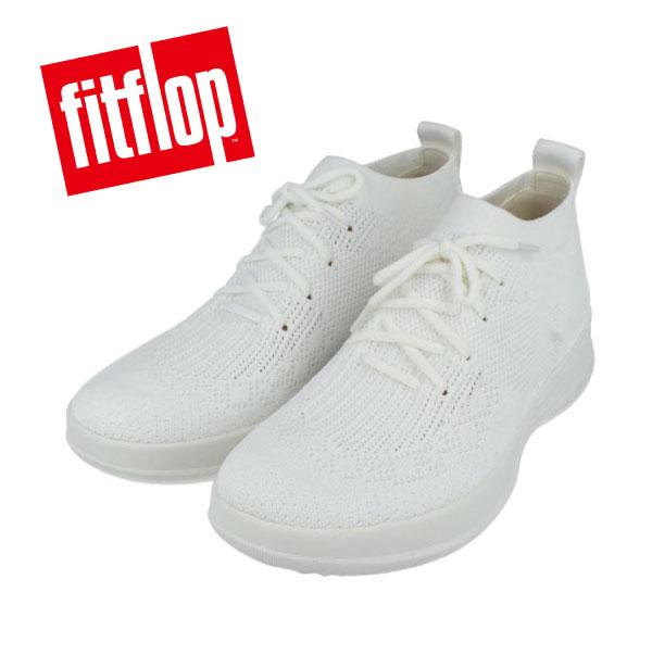 fitflop フィットフロップ E91 ストレッチスニーカー ブーツ ハイカット ホワイト 超軽量 柔軟 歩きやすい 疲れにくい コンフォートシューズクッション性 テクノロジーソール カジュアル 送料無料 アウトレット