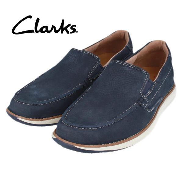 CLARKS クラークス 送料無料 205J スリッポン ダークブルー メンズ ビジネスシューズ カジュアル タウンユース 期間限定特価