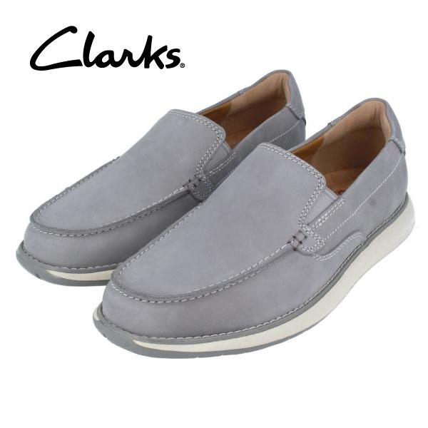 CLARKS クラークス 送料無料 205J スリッポン グレー メンズ ビジネスシューズ カジュアル タウンユース 期間限定特価
