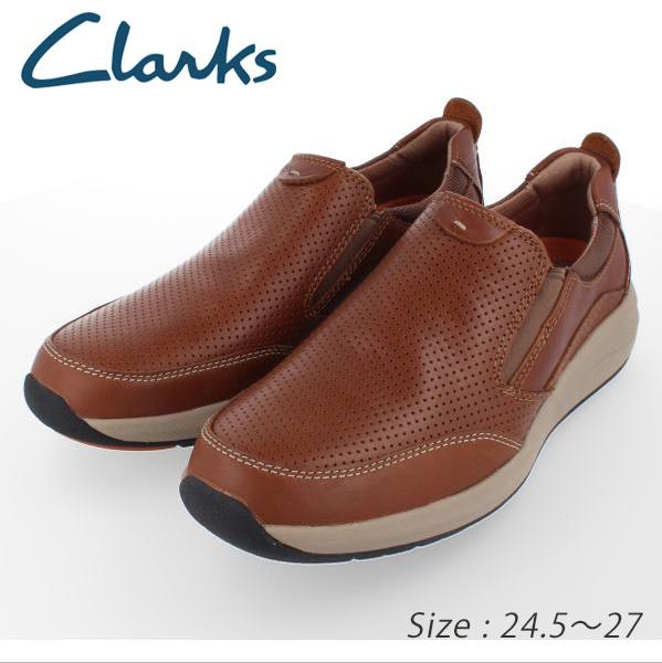 ★CLAKS クラークス メンズ 927E アンコーストステップシューズ スリッポン Un Coast Step キャメル  送料無料 アウトレット