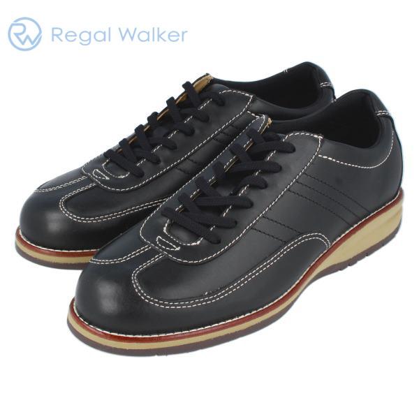 REGALWALKER リーガルウォーカー 313W  レースアップスニーカー ブラック 3E 送料無料 通勤 メンズ