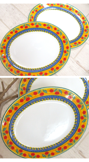 [Import goods] from Portugal made dish  Portugal  import Portugal Dinnerware oval plate ?  sc 1 st  Rakuten & bonheur-international | Rakuten Global Market: From Portugal made ...