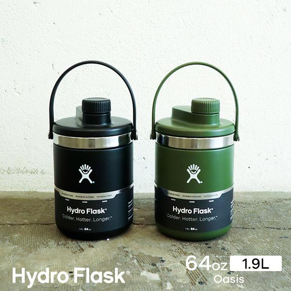 ハイドロフラスク/Hydro Flask 64oz Oasis ステンレスボトル(1.9L)【送料無料】[64オンス/広口/マグボトル/マイボトル/ドリンクボトル/水筒/直飲み/保温/保冷/魔法瓶/二重壁真空断熱技術/ギフト/プレゼント/ハワイ]