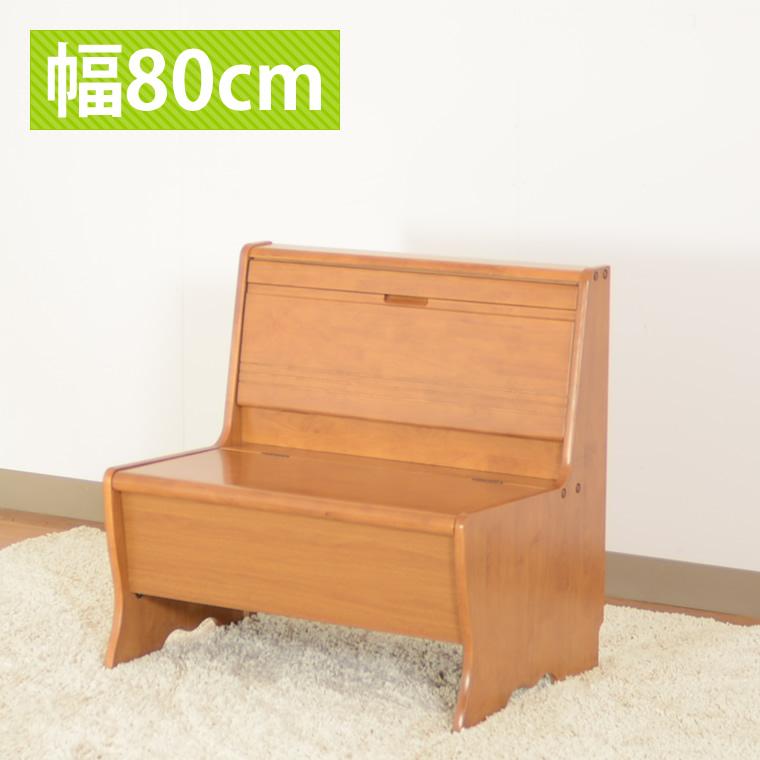 収納付き ベンチチェア 椅子 いす ダイニングチェア 幅80奥行57.5高81cm カントリー調 食卓 4点セット コーナーチェア カジュアル おしゃれ