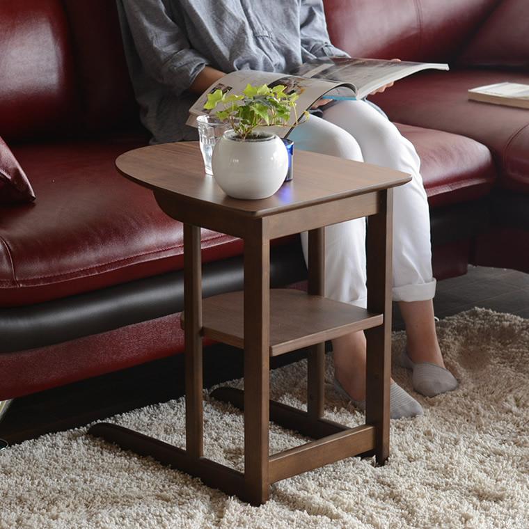 サイドテーブル サブテーブル ナイトテーブル ベッドサイドテーブル 木製 完成品 ブラウン 茶色 シンプル モダン おしゃれ かわいい コンパクト