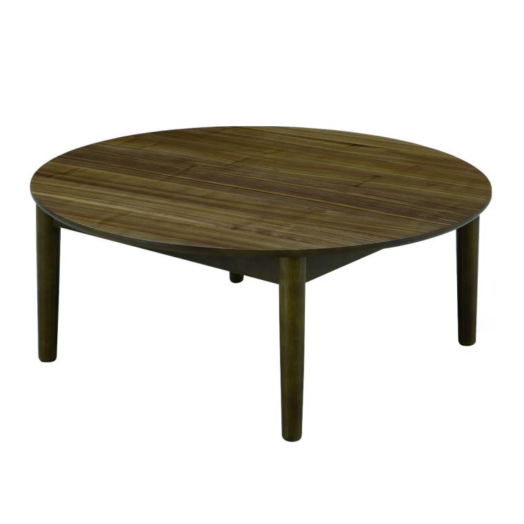 丸型 座卓 ローテーブル 円卓 リビングテーブル 直径90cm 高さ36.5cm ウォールナット突板 ウレタン塗装仕上げ