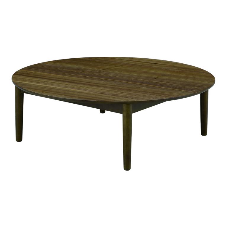 丸型 座卓 ローテーブル 円卓 リビングテーブル 直径110cm 高さ36.5cm ウォールナット突板 ウレタン塗装仕上げ