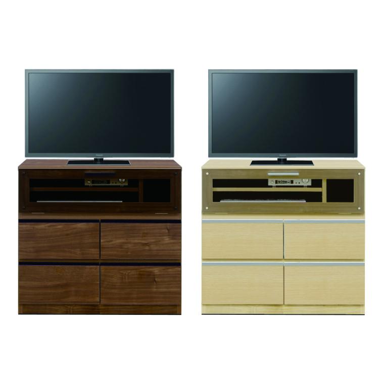 テレビボード ハイタイプ サイドボード テレビ台 AV機器収納 幅80cm 奥行40cm 高さ72.5cm 完成品 戸棚 日本製 ブラウン ナチュラル 木目調シート