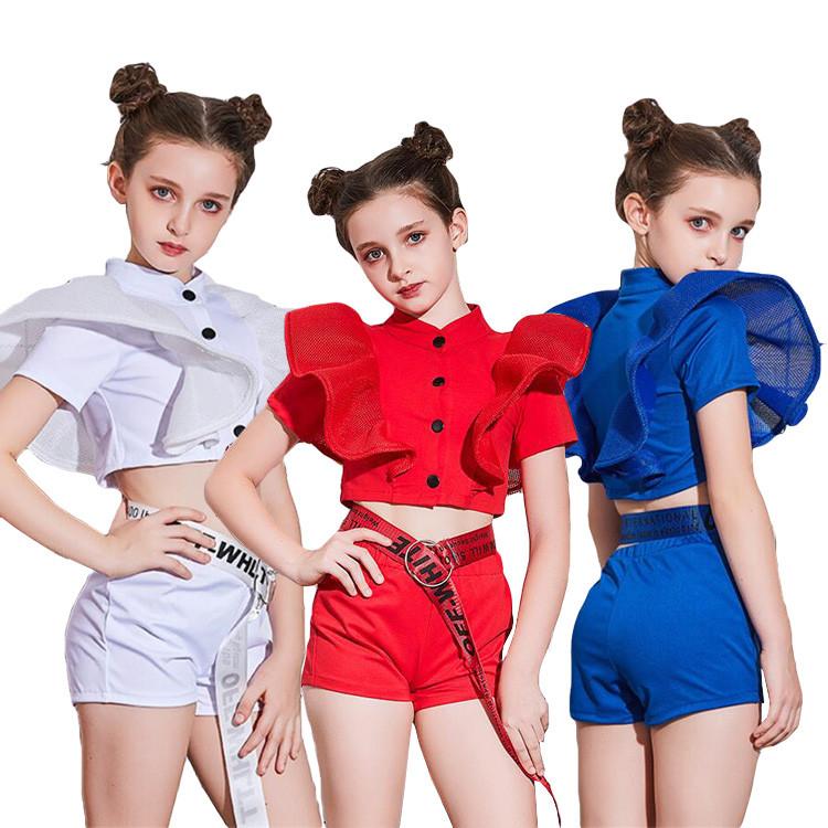 キッズダンス衣装 ダンス キッズ ダンス衣装 ヒップホップ トップス+パンツ チアガール 超激得SALE 衣装 へそ出し ジャズ 上下 ダンスウェア パンツセット 贈答 子供 女の子 セットアップ 韓国 おしゃれ
