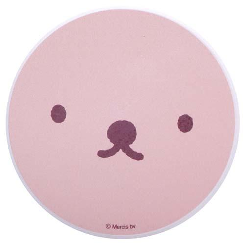 タンブラーとお揃いが可愛い miffy ミッフィー フェイス 新作 人気 最新号掲載アイテム ピンク ボリス陶製吸水コースター