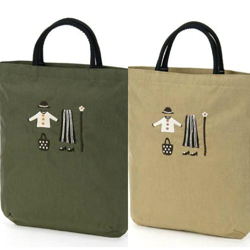 売れ筋 ATSUKO MATANO モスグリーンカーキ モカ またのあつこ刺繍バッグクローゼット 売り出し 特別セール品