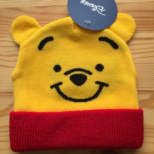ディズニー キッズニット キャップ 正規認証品 新規格 帽子 送料無料カード決済可能 子供用 フェイスくまのプーさん