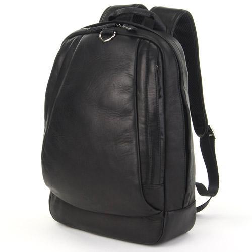 馬革 デイパックメッセンジャーバッグ リュックサック キャンバス バッグ A4サイズ対応 ブラック