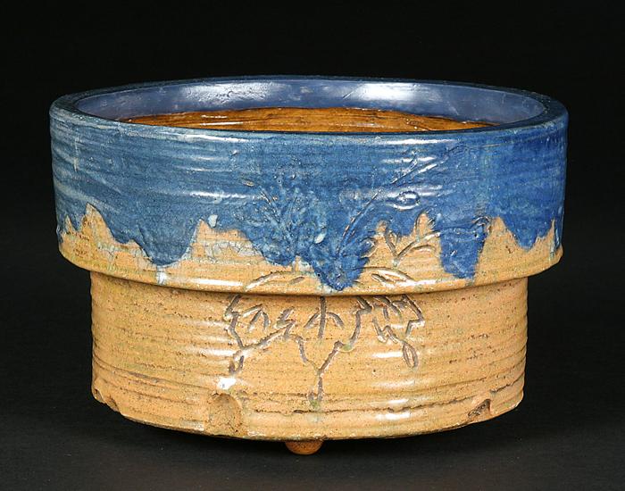 大樋焼釘彫丸鉢