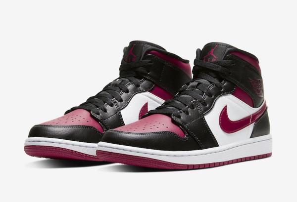 ナイキ エア ジョーダン 1 ミッド ブラック/レッド/ホワイト ユニセックス 554724-066 Nike Air Jordan 1 Mid Bred Toe Black/Red/White【バスケットボール】バスケットボールシューズ バッシュ バスケットシューズ  20SP