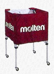 molten(モルテン) バスケ ミニバス用 ボールカゴ(エンジ)[BK20HLE] 【バスケットボール 用品】ボールカゴ ボールかご ボールケース
