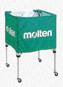 molten(モルテン) バスケ ミニバス用 ボールカゴ(グリーン)[BK20HLG] 【バスケットボール 用品】ボールカゴ ボールかご ボールケース