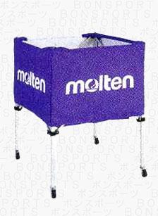 molten(モルテン) バスケ ミニバス用 ボールカゴ(パープル)[BK20HLP] 【バスケットボール 用品】ボールカゴ ボールかご ボールケース