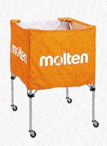 molten(モルテン) バスケ ミニバス用 ボールカゴ(オレンジ)[BK20HLO] 【バスケットボール 用品】ボールカゴ ボールかご ボールケース