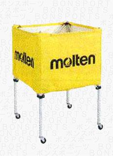 molten(モルテン) バスケ ミニバス用 ボールカゴ(イエロー)[BK20HLY] 【バスケットボール 用品】ボールカゴ ボールかご ボールケース