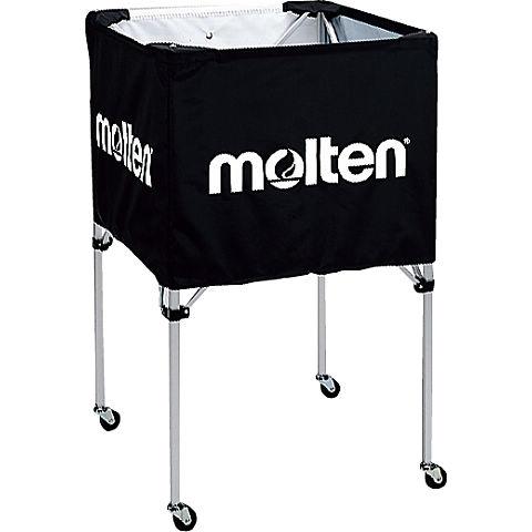 molten(モルテン) バスケ ボールカゴ(中・背高)(黒)[BK20HBK] 【バスケットボール 用品】ボールカゴ ボールかご ボールケース